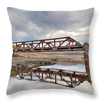 Ghost Bridge - Colebrook Reservoir Throw Pillow