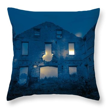 Ghost Castle Throw Pillow