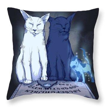 Ghost Kitten Throw Pillow