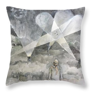 Ghostbusting The New Zealand Storm-petrel Throw Pillow