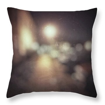 ghosts III Throw Pillow