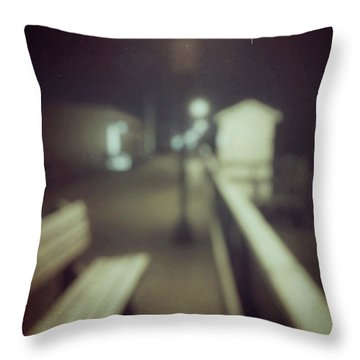 Throw Pillow featuring the photograph ghosts IV by Steve Stanger