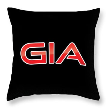 Throw Pillow featuring the digital art Gia by TintoDesigns