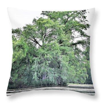Giant River Tree Throw Pillow