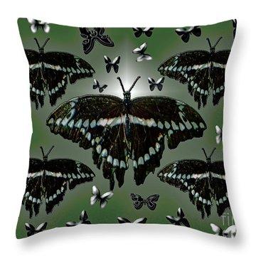 Giant Swallowtail Butterflies Throw Pillow