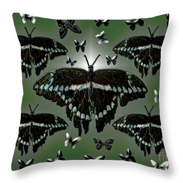 Giant Swallowtail Butterflies Throw Pillow