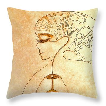 Gifts Of The Mind Throw Pillow