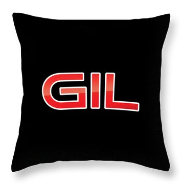 Throw Pillow featuring the digital art Gil by TintoDesigns