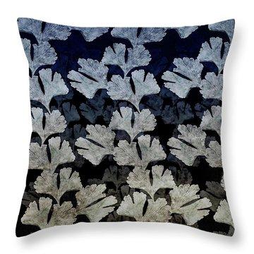 Ginko Leaf Pattern Throw Pillow