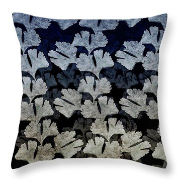 Ginko Leaf Pattern Throw Pillow