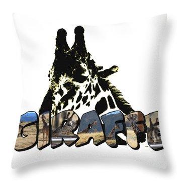 Giraffe Big Letter Throw Pillow
