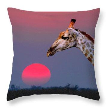 Giraffe Composite Throw Pillow