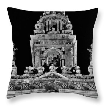 Giralda Tower In Monochrome. Seville Throw Pillow