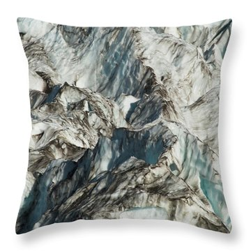 Glacier Ice 1 Throw Pillow