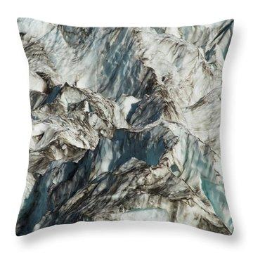 Glacier Ice 1 Throw Pillow