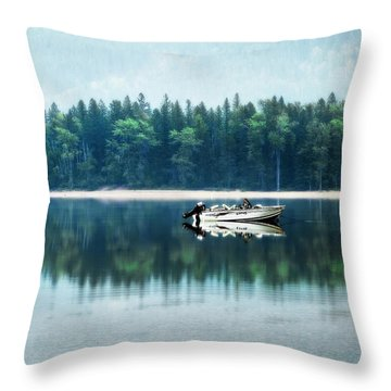 Glacier National Park Lake Reflections Throw Pillow