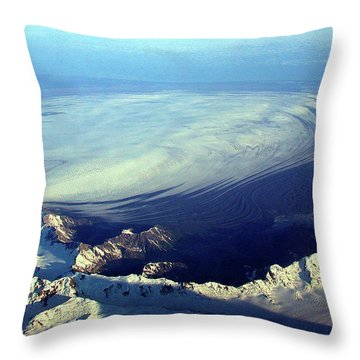 Glacier Pushes Out Throw Pillow