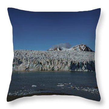 Glacier Svalbard Throw Pillow