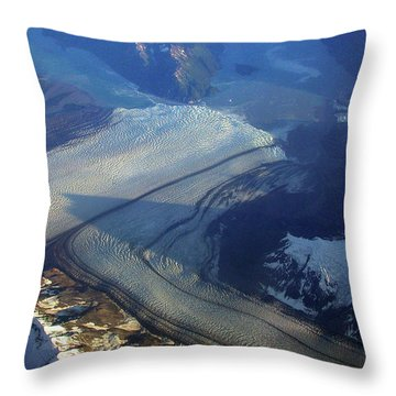 Glaciers Converge Throw Pillow
