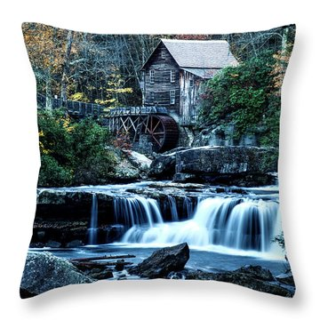 Throw Pillow featuring the photograph Glade Creek Grist Mill by Pete Federico