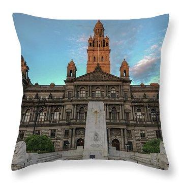 Glasgow Cenotaph Throw Pillow