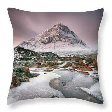 Throw Pillow featuring the photograph Glencoe Winter - Square by Grant Glendinning