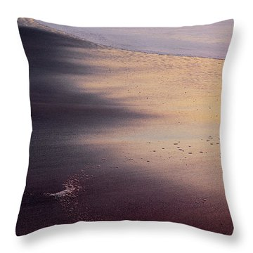 Throw Pillow featuring the photograph Gleneden Glow by Whitney Goodey