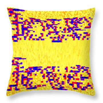 Throw Pillow featuring the digital art Glitched Love by Bee-Bee Deigner