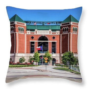 Globe Life Park In Arlington Throw Pillow