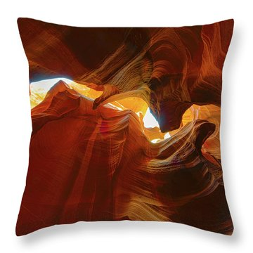 Throw Pillow featuring the photograph Antelope Jagged Beauty by Mark Duehmig