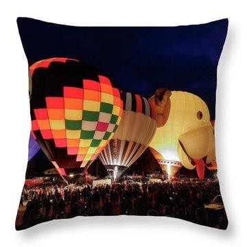 Throw Pillow featuring the photograph Glow by Brad Allen Fine Art
