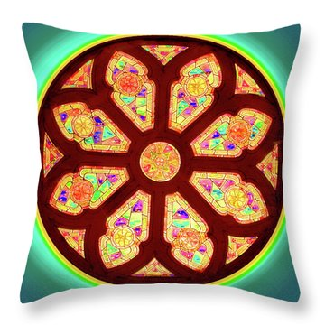 Glowing Rosette Throw Pillow