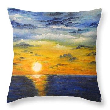 Glowing Sun Throw Pillow