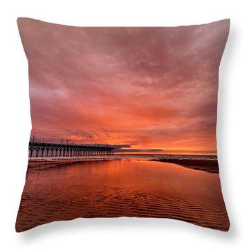 Glowing Sunrise Throw Pillow
