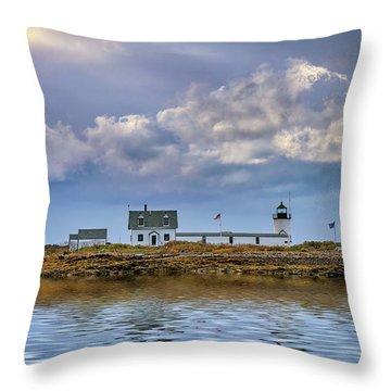 Throw Pillow featuring the photograph Goat Island Lighthouse by Rick Berk