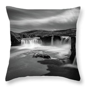 Godafoss Throw Pillow