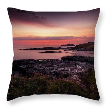 Godrevy Sunset - Cornwall Throw Pillow