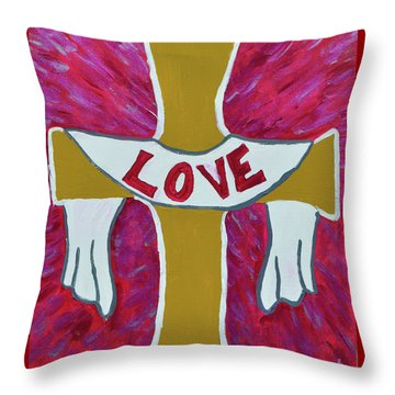 Throw Pillow featuring the painting God's Love by Christopher Farris