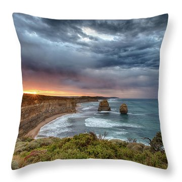 Throw Pillow featuring the photograph Gog And Magog by Chris Cousins