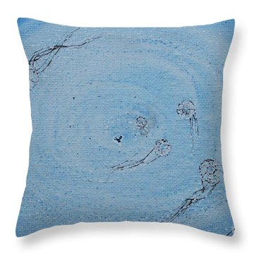 Throw Pillow featuring the painting Going Deeper by Kim Nelson