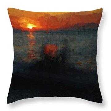 Going Fishin' Throw Pillow