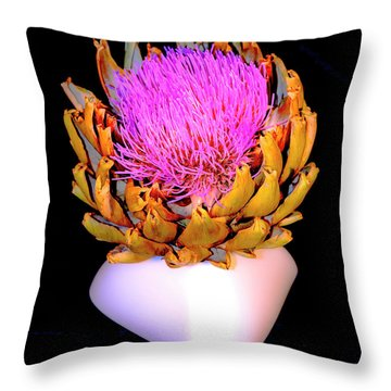 Gold And Pink Throw Pillow