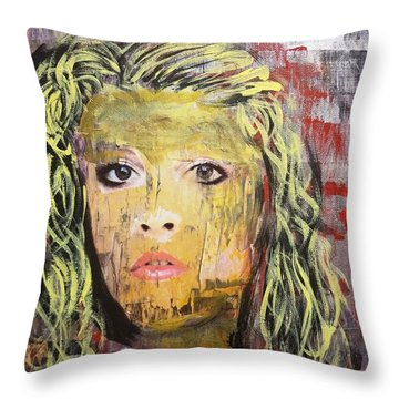 Gold Dust Woman Throw Pillow