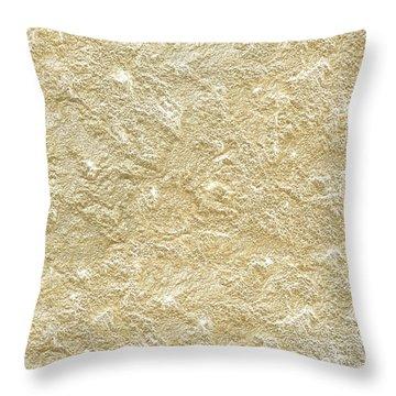 Gold Stone  Throw Pillow