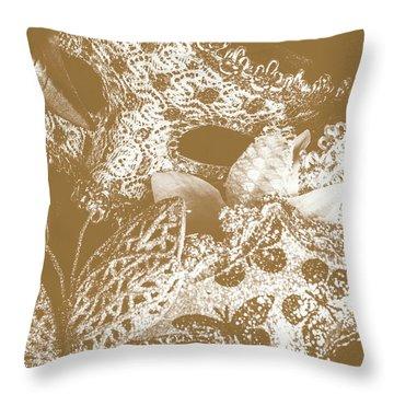 Golden Ball Throw Pillow