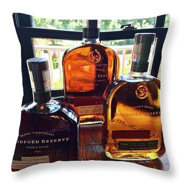Golden Bourbon Throw Pillow