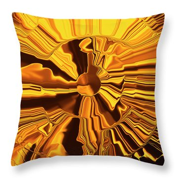 Golden Circle Throw Pillow