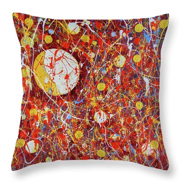 Golden Coins Throw Pillow