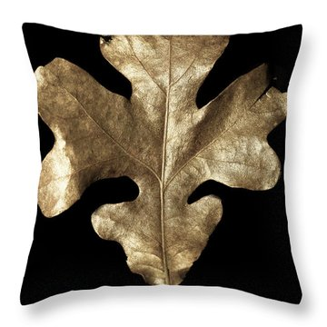 Golden Crest Throw Pillow