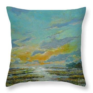 Golden Florida Dusk Throw Pillow